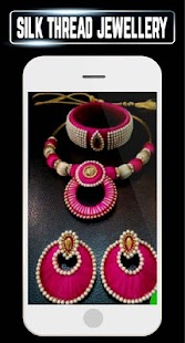 Silk Thread Jewelry Bangles Necklace Earring Ideas - náhled