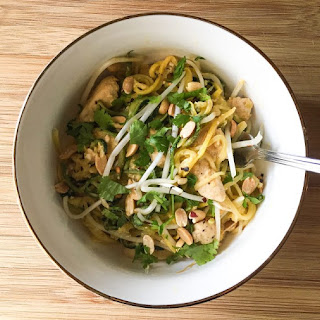 Summer Squash Pad Thai With Chicken.