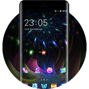 Neon theme wallpaper light luster color lights icon