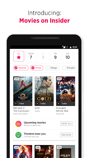Insider.in: Movie Tickets, Events & Gameshows 3.4.7 screenshots 2