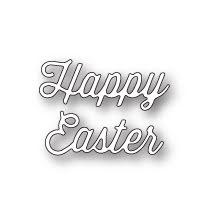 Memory Box Die - Happy Easter Perky Script