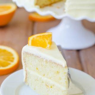 Orange Creamsicle Layer Cake.
