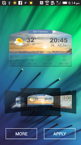 android 4 day forecast weather clock Screenshot 3