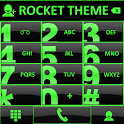 Theme Glossy Green RocketDial icon