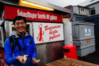 Photo: Supposedly the best hot dogs in Iceland