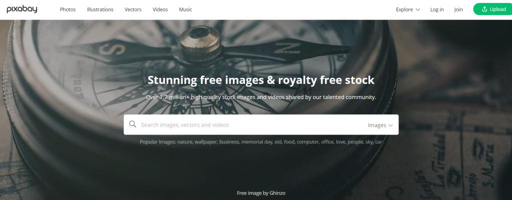 pixabay- get royalty free stock images for blogging