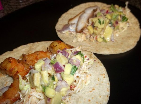 smoked mahi mahi and shrimp tacos