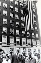 Photo: Hanging Flag for WWI Vets Convention July 1962 at Penn Alto Hotel, Altoona, PA