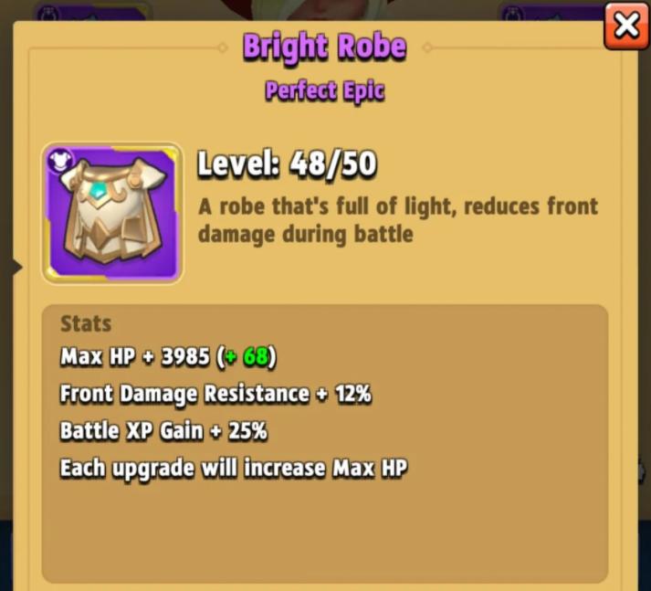 About Archero Bright Robe
