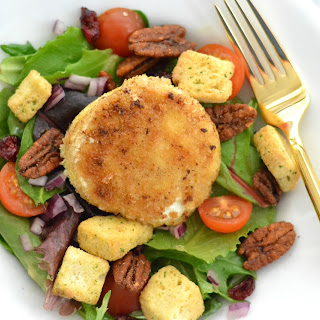 Warm Goat Cheese & Spiced Pecan Salad