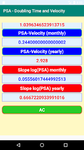 Download PSA- Calculations of Doubling Time and Velocity For PC Windows and Mac apk screenshot 3