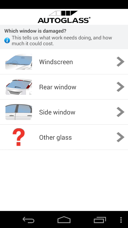 Autoglass®- screenshot