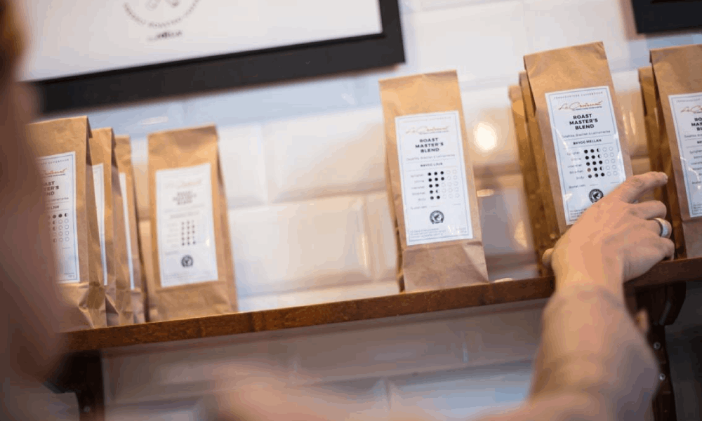 bags of specialty coffee