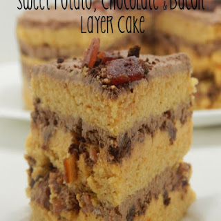 Sweet Potato, Chocolate and Bacon. Layer Cake