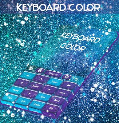 Keyboard Color Glitter Theme - screenshot