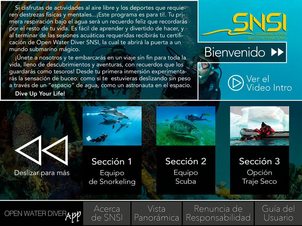 GoScuba SPA- screenshot