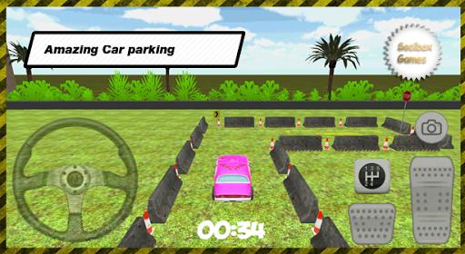 3Dピンクの駐車場
