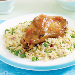 Citrus Pork with Pea Couscous