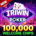 Blackjack & Video Poker - Triwin Poker free games icon