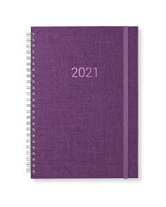 Kalender 2021 Newport vecka/notes Evening Purple
