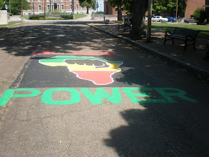 Photo: painted by Nikki Giovani her senior year. Now, it is senior class tradition to repaint it each year