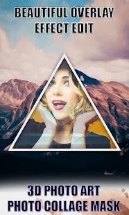 3D Photo Art : Photo Collage Mask - náhled