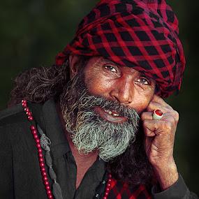 Gladness by Nayyer Reza - People Portraits of Men ( color, head gear, nayyer, smile, portrait, man, reza )