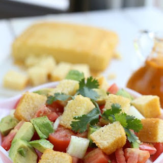 Corn Bread Salad with Mango Honey Lime Dressing