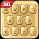 3D Golden Glitter Keyboard Theme Download on Windows