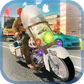 Police Motorbike Driving - Criminal Chase Game 3D