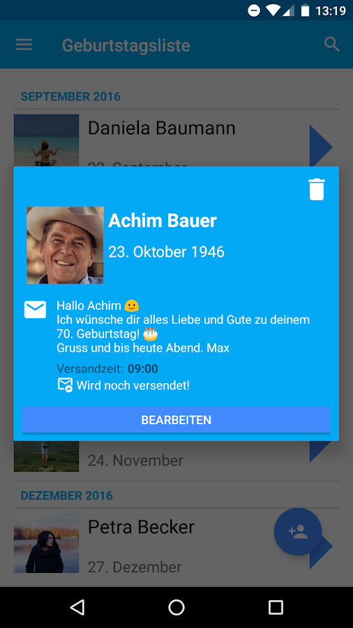BirthdayBrain - Geburtstag – Screenshot