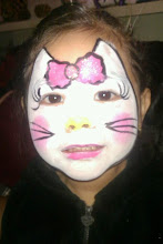 Photo: Hello Kitty face paint by Bella the Clown. Call to book Bella today at 888-750-7024