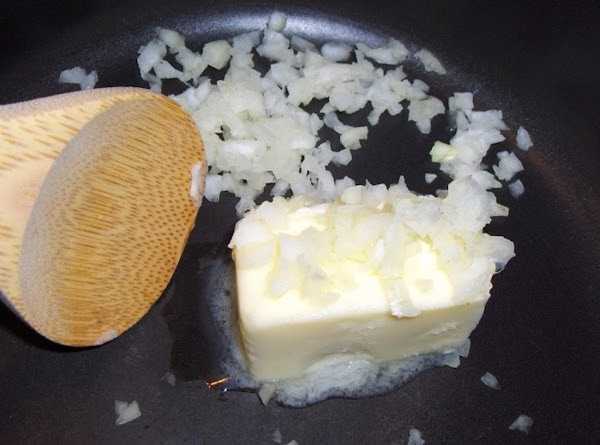 In a large saucepot, melt the butter. Saute' the onions for about  8...