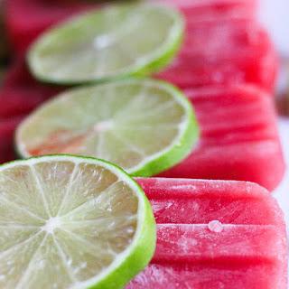 Watermelon Lime Honey Popsicles.
