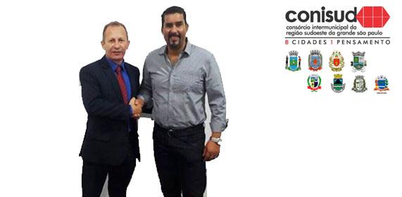 Reunião com presidente de câmara de Vargem Grande Paulista
