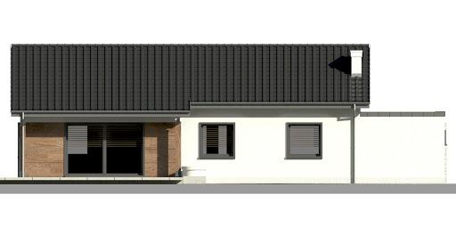 Dom przy Bukowej 7 - Elewacja tylna