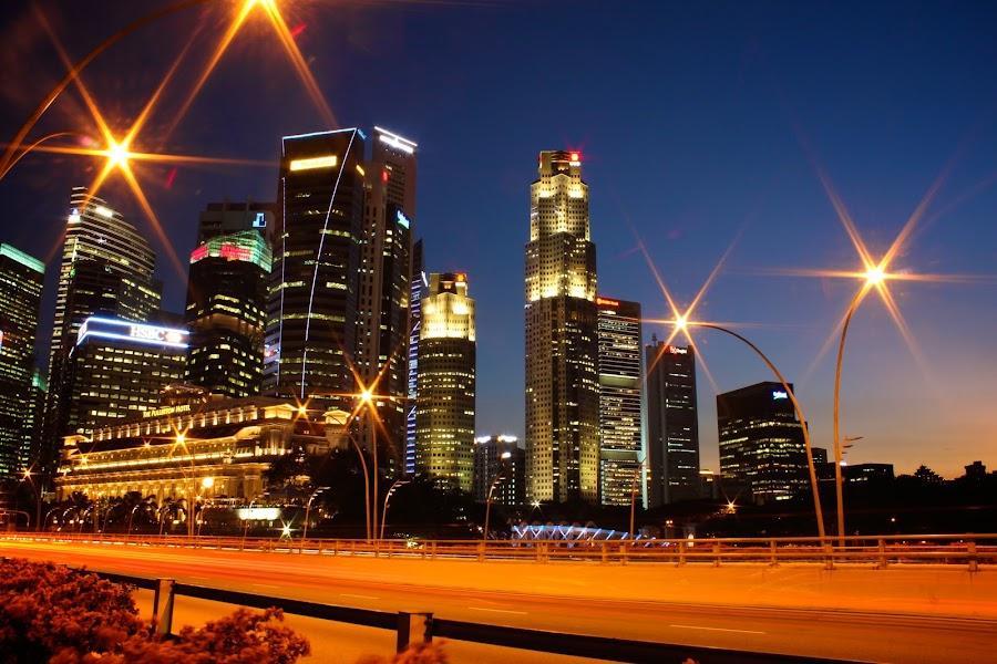 Central Business District by Kai Jian - City,  Street & Park  Skylines ( skyline, cityscape, singapore, central business district )