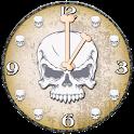 Skulls Analog Clock with Alarm icon