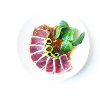 Tuna Sashimi with Matsuhisa Dressing.