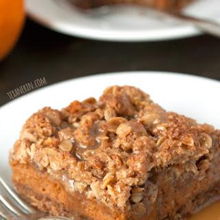 Pumpkin Pie Streusel Bars (gluten-free, 100% whole grain)