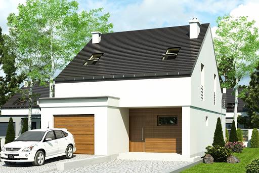 projekt Makolągwa z garażem 1-st. A