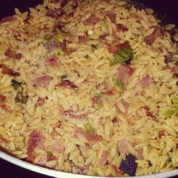 Garlicky Orzo With Prosciutto Recipe