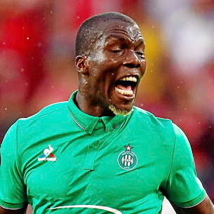 St. Etienne's Florentine Pogba reacts during their match against FSV Mainz. Picture: REUTERS/RALPH ORLOWSKI
