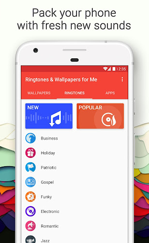 Ringtones & Wallpapers for Me Android App Screenshot