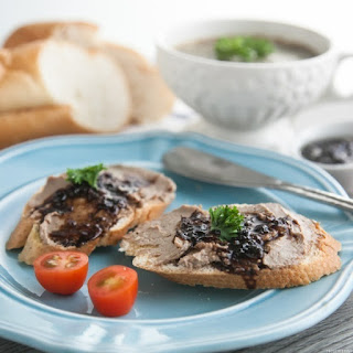 Choya-infused Chicken Liver Pate.