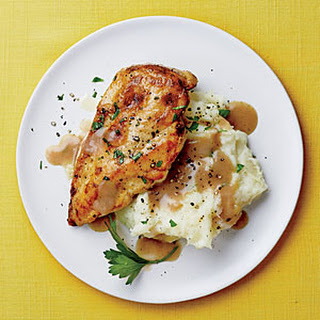 Chicken with Mashed Potatoes and Gravy.