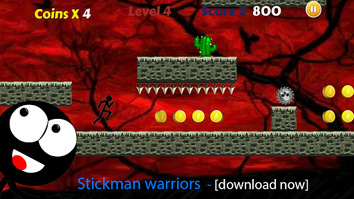 Stickman Run Jump: Free No Ads