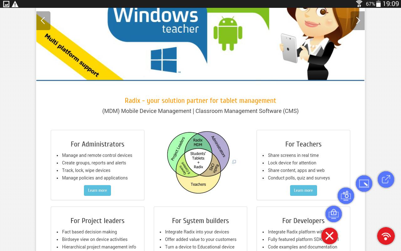 Radix SmartClass Teacher- screenshot