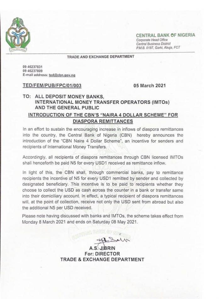 Nota do banco central da Nigéria