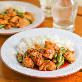 Thai Red Curry Chicken with Green Beans.